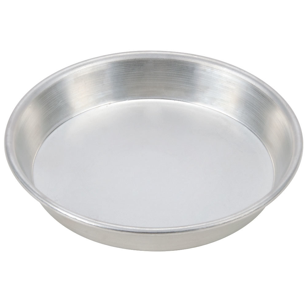 "American Metalcraft TDEP10 10"" x 1"" Tin-Plated Steel Tapered / Nesting Deep Dish Pizza Pan"
