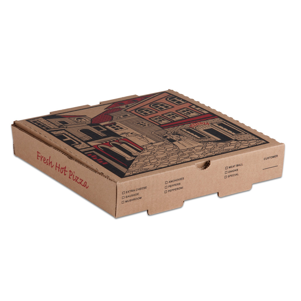 X X Kraft Corrugated Pizza Box Case