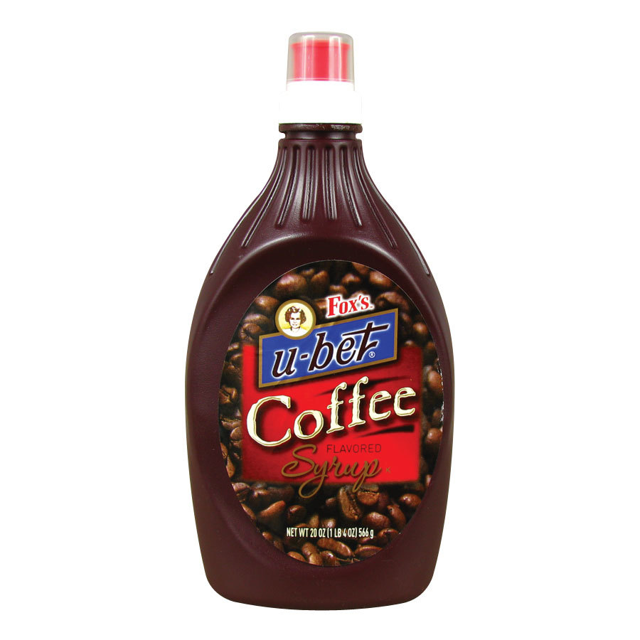 Fox's U-Bet Coffee Flavored Syrup - 20 oz. Squeeze Bottle