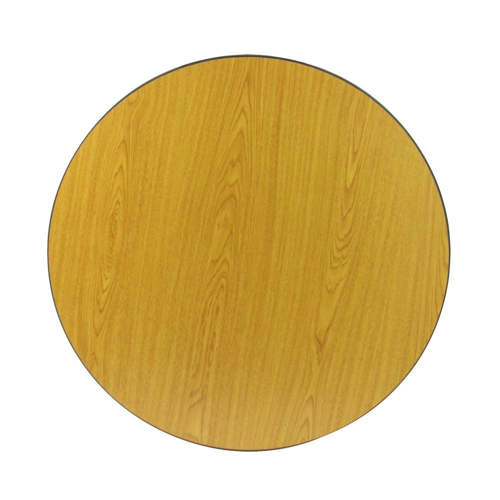 30 inch Laminated Round Table Top Reversible Walnut / Oak