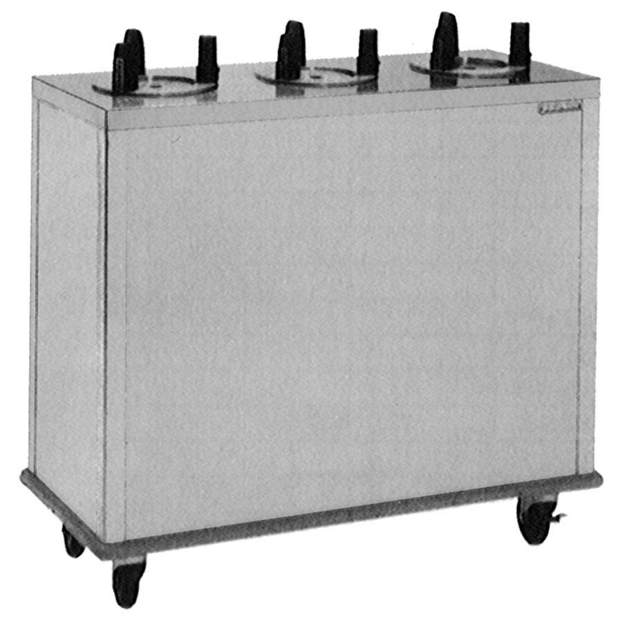 "Delfield CAB3-725 Mobile Enclosed Three Stack Dish Dispenser for 6 1/2"" to 7 1/4"" Dishes"