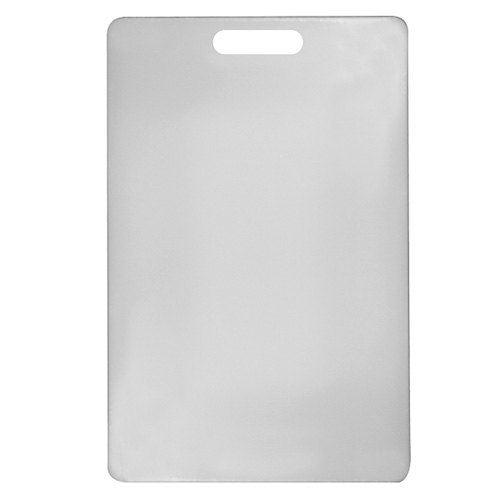 12 inch x 18 inch x 1/2 inch Poly White Cutting Board
