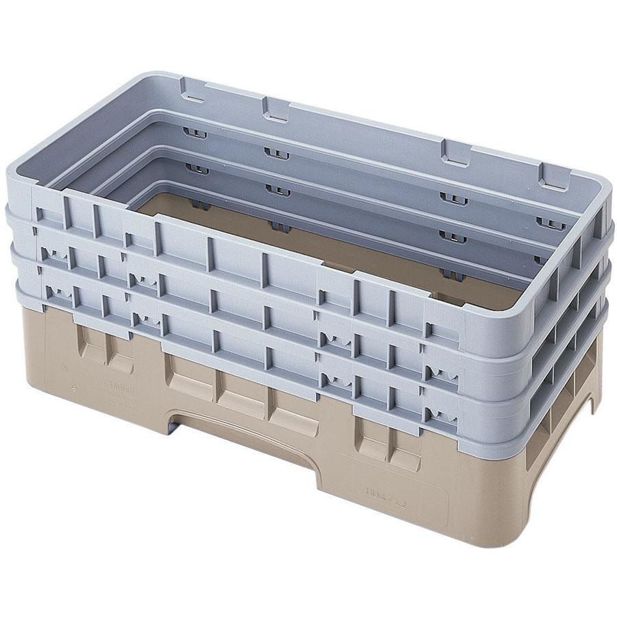 Cambro HBR712184 Beige Camrack Half Size Open Base Rack with 3 Extenders