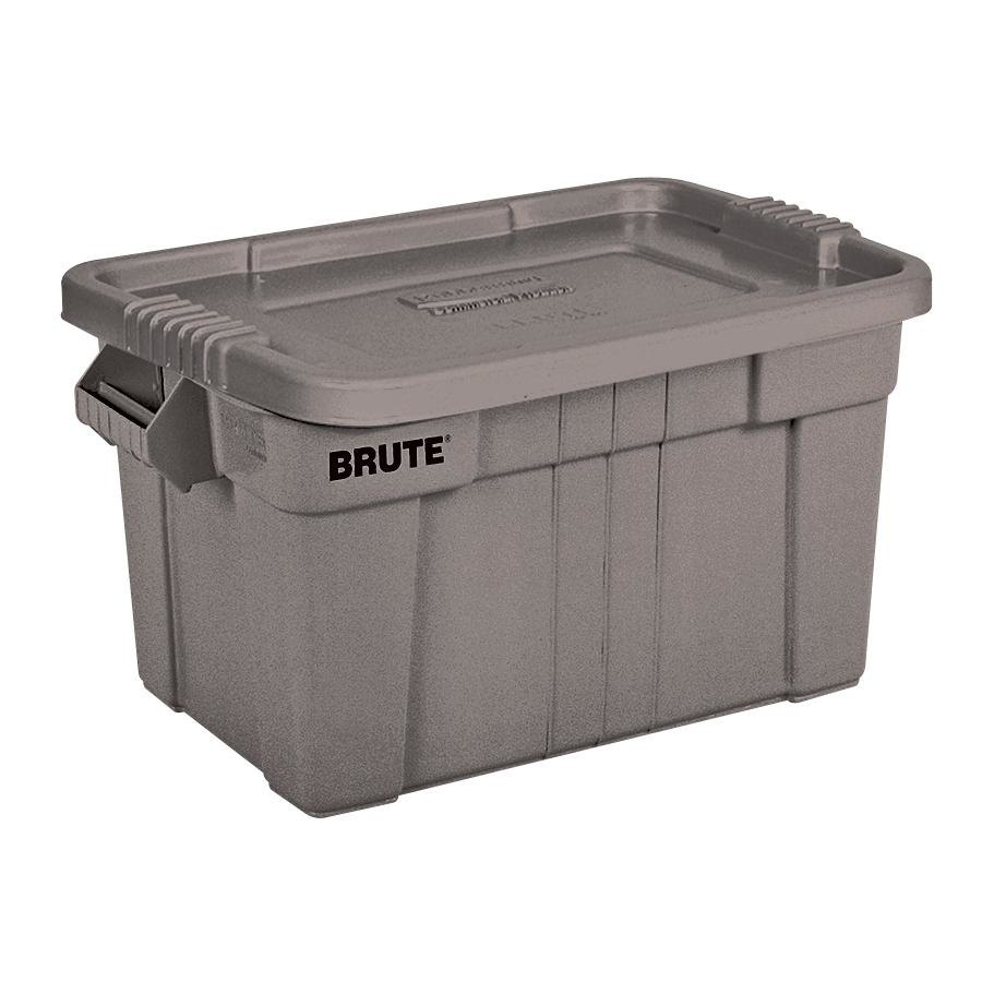 Rubbermaid 9s31 Gray Brute 20 Gallon Nsf Tote With Lid