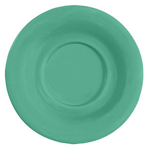 "GET SU-3-FG Diamond Mardi Gras 5 1/2"" Rainforest Green Melamine Saucer for GET B-105, BC-70, BC-170, B-454, and C-107 Bowls and Mugs - 48/Case"