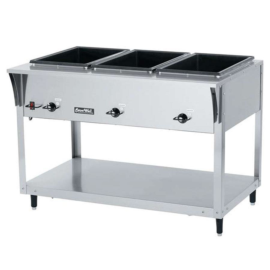 Vollrath 38204 ServeWell SL Electric 4 Well Hot Food Table 120V - Sealed Well