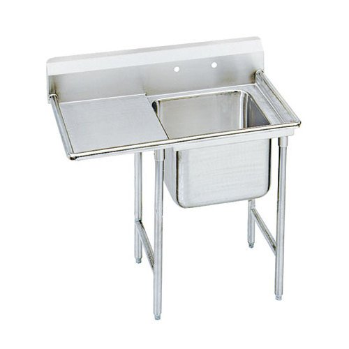 Advance Tabco 93-1-24-24 Regaline One Compartment Stainless Steel Sink with One Drainboard - 46""
