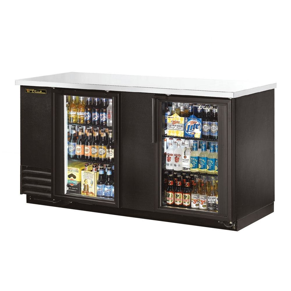 True TBB-3G 69 inch Glass Door Back Bar Refrigerator