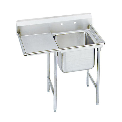 Advance Tabco 93-81-20-24 Regaline One Compartment Stainless Steel Sink with One Drainboard - 50""