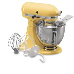 KitchenAid KSM150PSMY Majestic Yellow Artisan Series 5 Qt. Stand Mixer