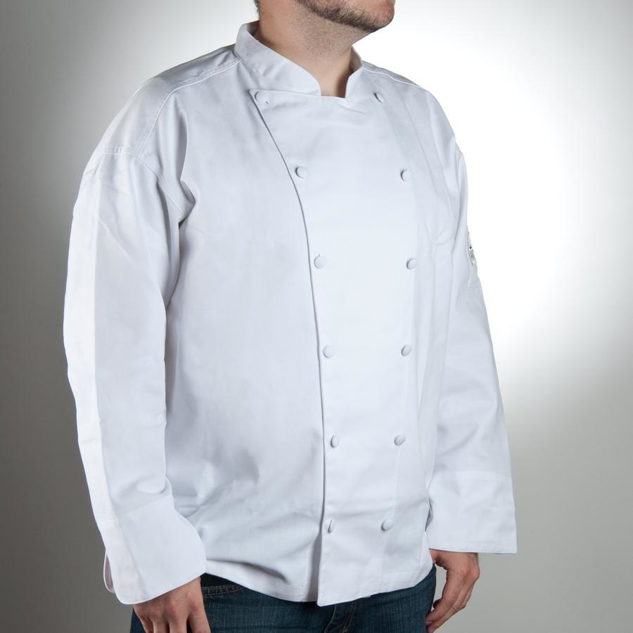 Chef Revival J015-3X Chef-Tex Size 56 (3X) White Customizable Cuisinier Chef Jacket
