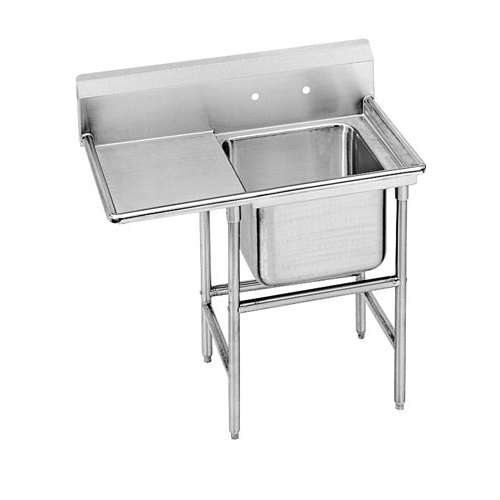 Advance Tabco 94-41-24-24 Spec Line One Compartment Pot Sink with One Drainboard - 54""