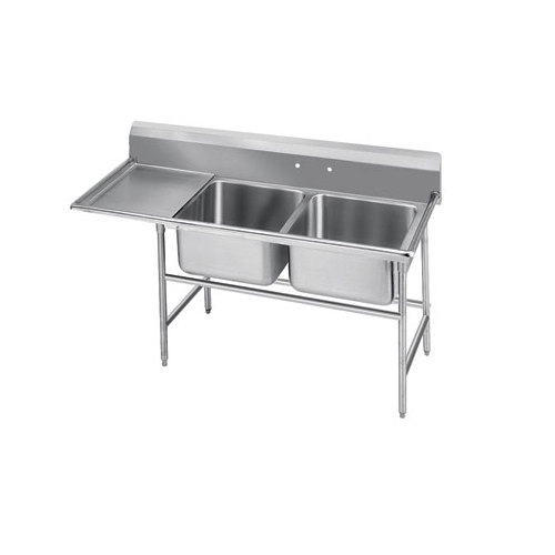 Advance Tabco 94-82-40-18 Spec Line Two Compartment Pot Sink with One Drainboard - 66""