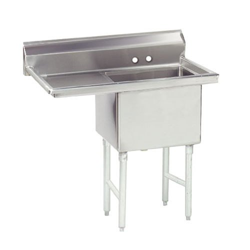 Advance Tabco FS-1-3024-24 Spec Line Fabricated One Compartment Pot Sink with One Drainboard - 56 1/2""