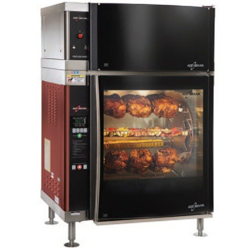Alto-Shaam AR-7EVH-DBLPANE Double Pane Curved Glass Rotisserie Oven with 7 Spits and Ventless Hood