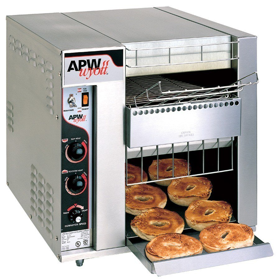 "APW Wyott BT-15-3 Bagel Master Conveyor Toaster with 3"" Opening Scratch and Dent"