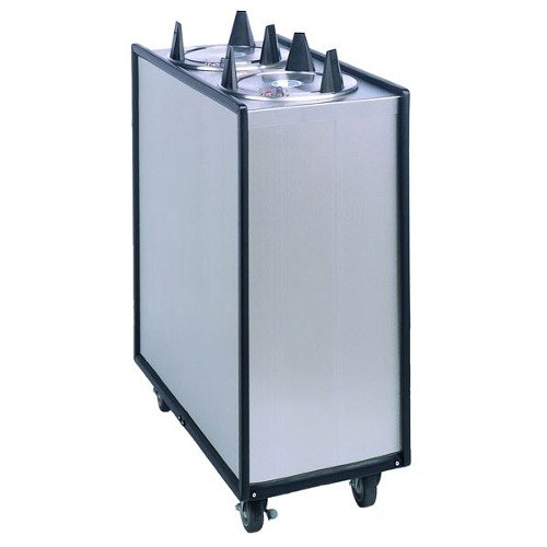 "APW Wyott Lowerator HML2-5 Mobile Enclosed Heated Two Tube Dish Dispenser for 5"" Dishes"
