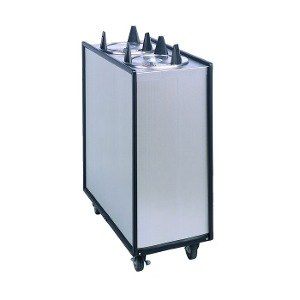 "APW Wyott Lowerator HML4-5 Mobile Enclosed Heated Four Tube Dish Dispenser for 5"" Dishes"