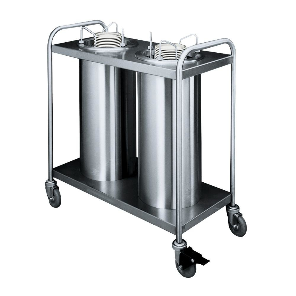 "APW Wyott HTL2-6.5 Trendline Mobile Heated Two Tube Dish Dispenser for 5 7/8"" to 6 1/2"" Dishes"