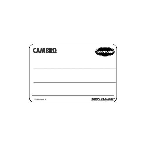 Cambro 23SLINB250 2 inch x 3 inch StoreSafe Dissolvable Product Label 250 / Roll - Blank - 24 Rolls / Case