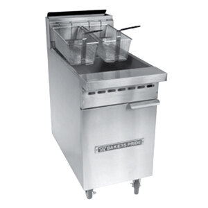 Bakers Pride BPF-4050 Restaurant Series 40-50 lb. Gas Floor Fryer - 114,000 BTU