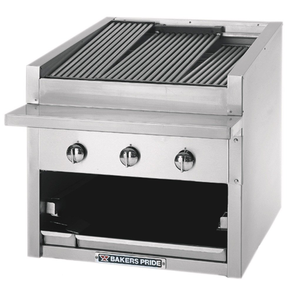 "Bakers Pride C-24GS 24"" Glo Stone Charbroiler - 108,000 BTU"