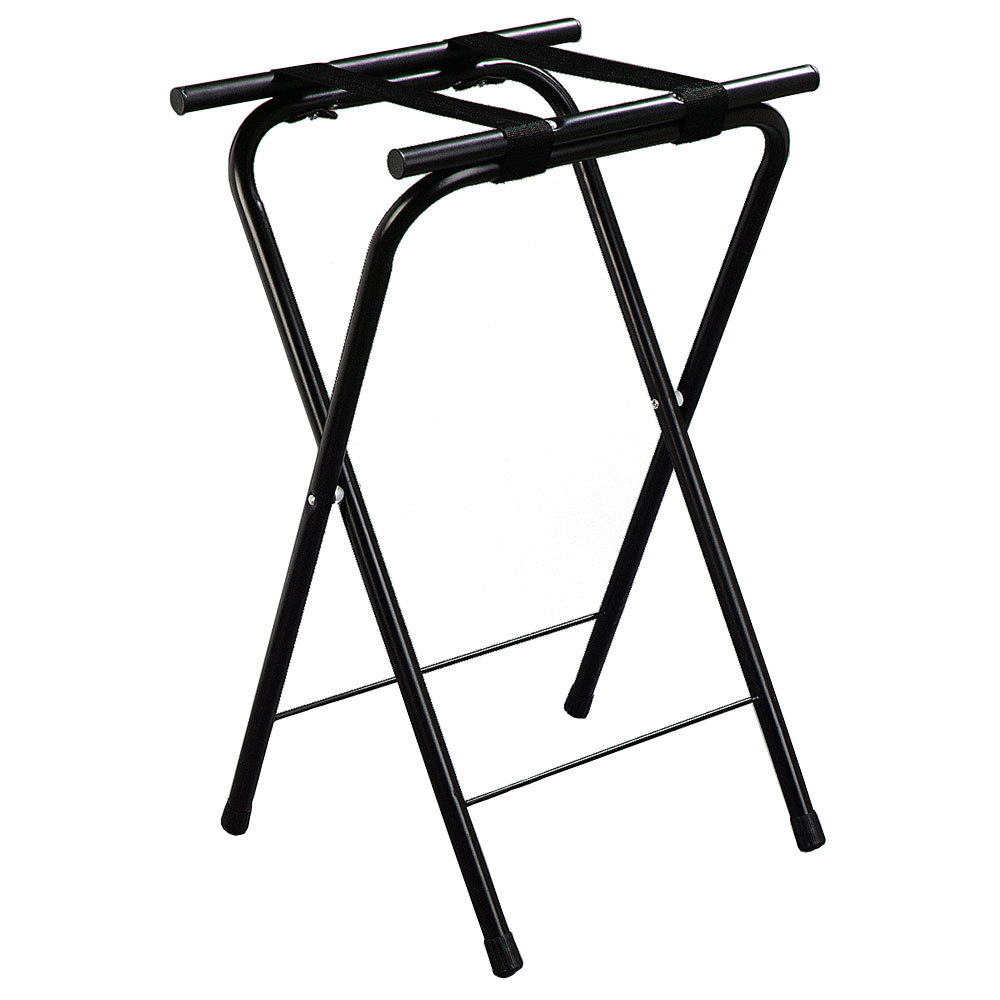 "Carlisle C362503 31 1/2"" Folding Black Metal Tray Stand"