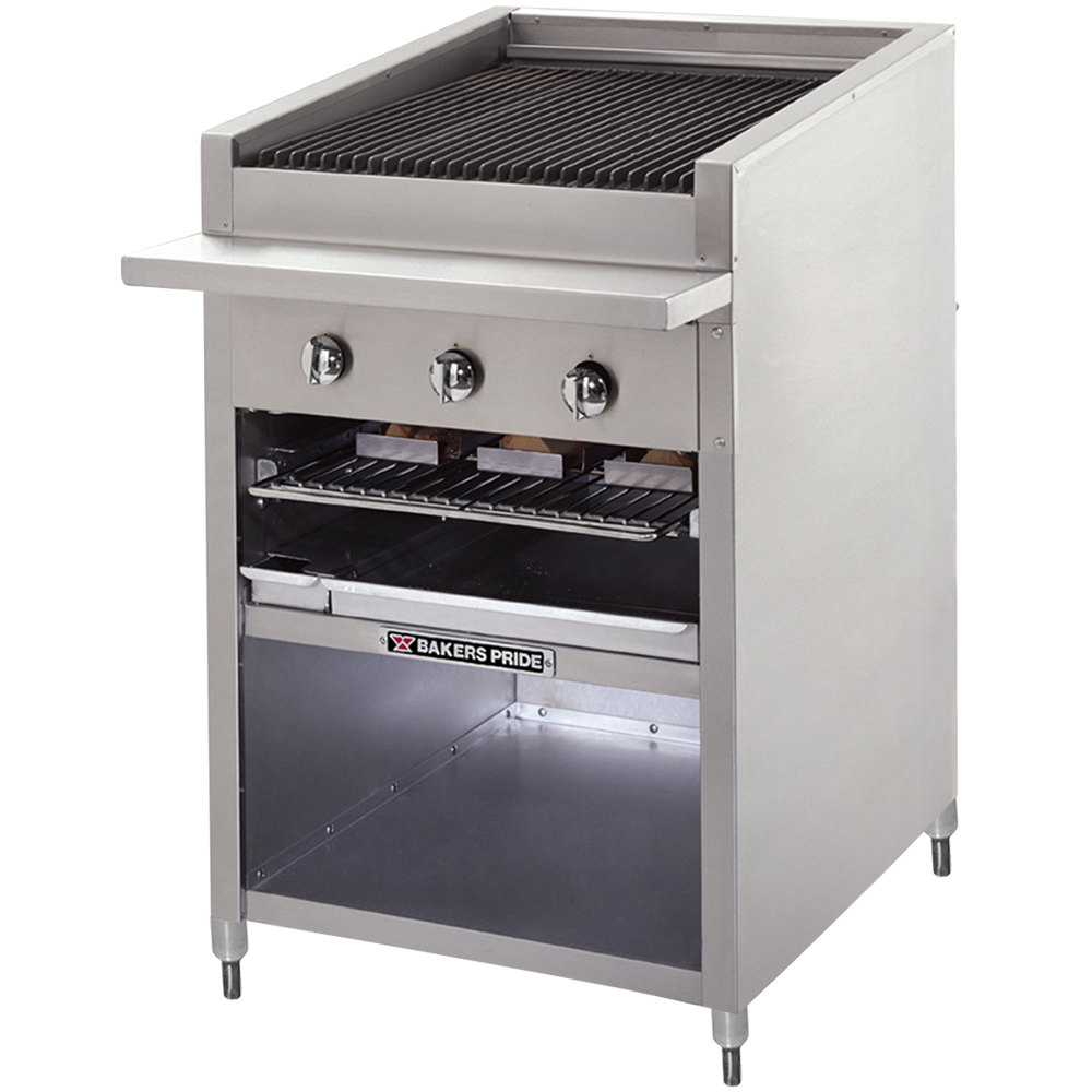 "Bakers Pride F-30R Gas Floor Model Radiant Charbroiler High Performance 30"" - 90,000 BTU"