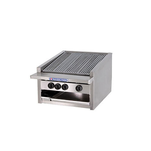 Bakers Pride L-60R Gas Countertop Radiant Charbroiler High Performance Low Profile 60 inch - 252,000 BTU
