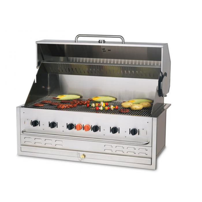 Crown Verity BI-48 48 inch Stainless Steel Built In Outdoor BBQ Grill / Charbroiler