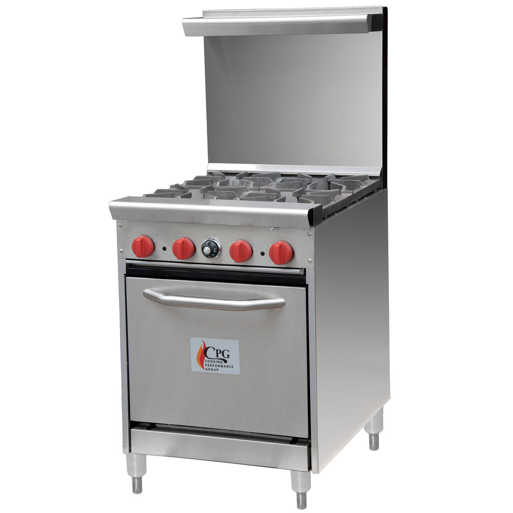 """Cooking Performance Group 24-CPGV-4B-S20 4 Burner 24"""" Gas"""