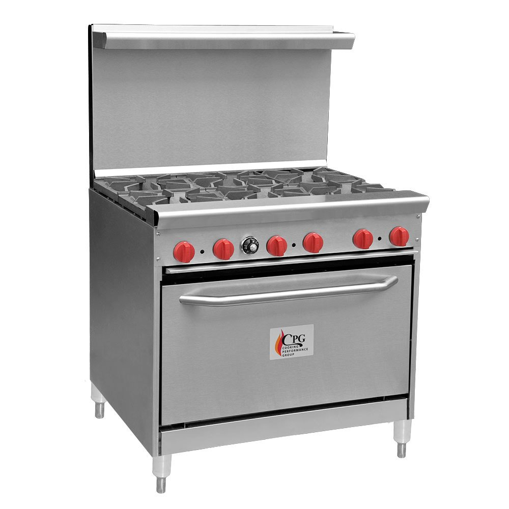 Cooking Performance Group 36-CPGV-6B-S30 6 Burner Gas Range with 30 inch Standard Oven
