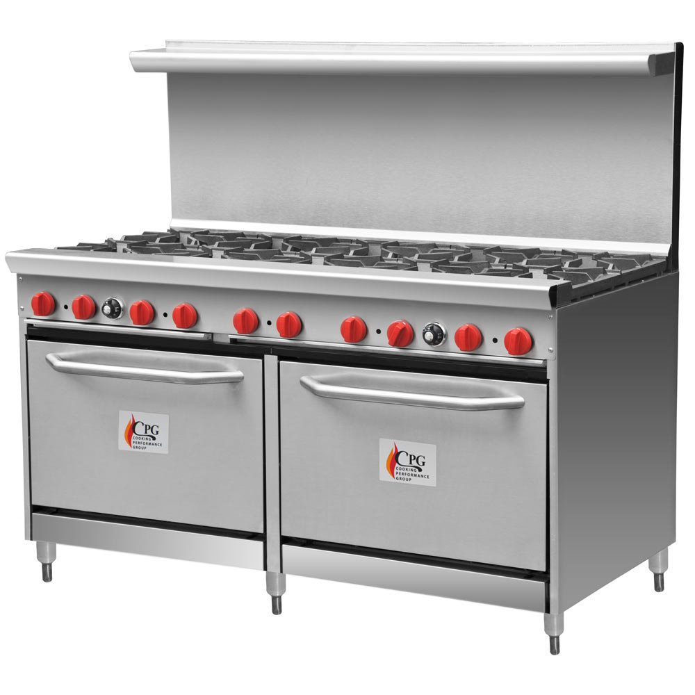 "Cooking Performance Group 60-CPGV-10B-S26 10 Burner 60"" Gas Range with Two 26 1/2"" Standard Ovens"