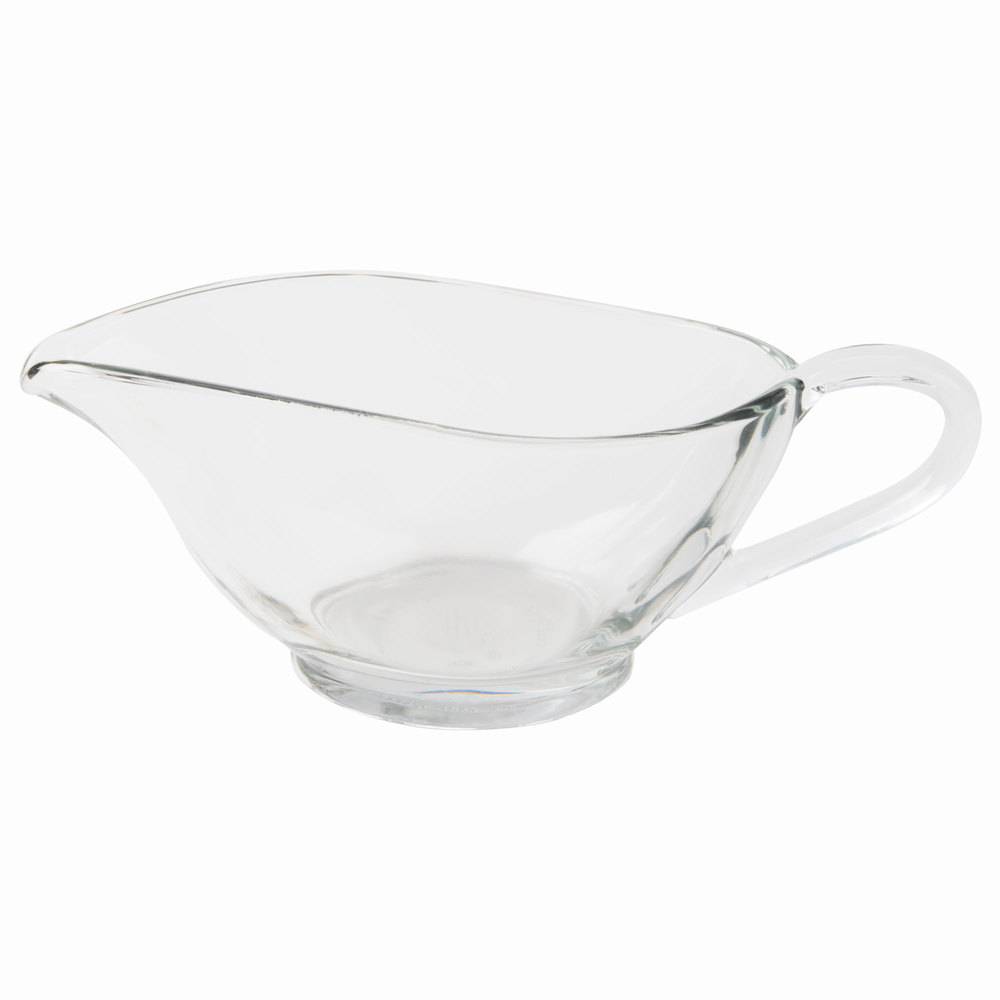 Anchor Hocking 96934L10 Presence 10 oz. Glass Sauce / Gravy Boat