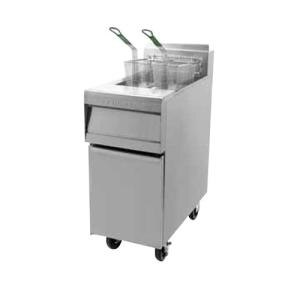 Frymaster MJ35EBL-SC Gas Floor Fryer 30-40 Pounds with Basket Lift - 110,000 BTU