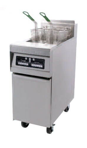 Frymaster MJ35EC-SC Gas Floor Fryer 30-40 Pounds with Computer Magic Controls - 110,000 BTU