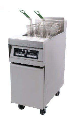 Frymaster MJ35EC-SD Gas Floor Fryer 30-40 Pounds with Computer Magic Controls - 110,000 BTU