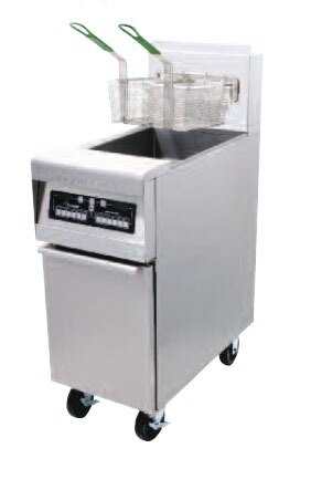 Frymaster MJ45EC-SC Gas Fryer 50 Pounds with Computer Magic Controls - 122,000 BTU