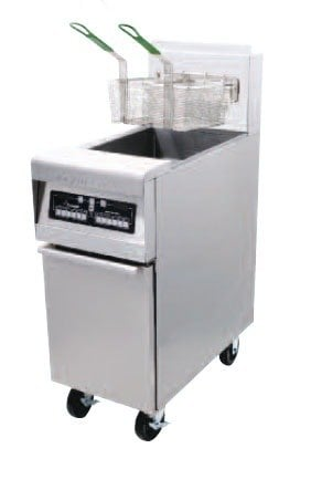 Frymaster MJ45GBL-SD Gas Floor Fryer 50 Pounds with Basket Lift - 122,000 BTU