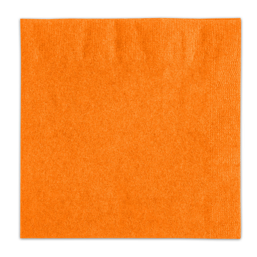 Choice Orange Beverage / Cocktail Napkin - 1000 / Case