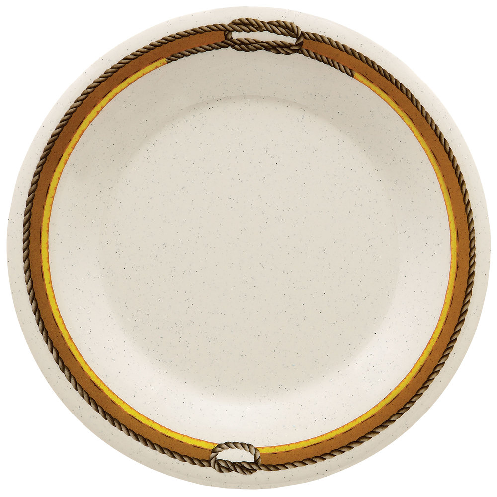 "GET WP-10-RD 10 1/2"" Diamond Rodeo Wide Rim Plate - 12 / Case"