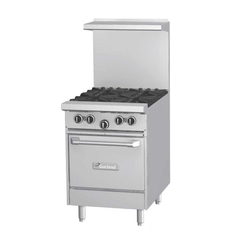 Garland G24-2G12S 2 Burner Gas Range with 12 inch Griddle and Storage Base