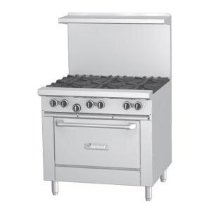 Garland G36-4G12R 4 Burner 36 inch Gas Range with 12 inch Griddle and Standard Oven