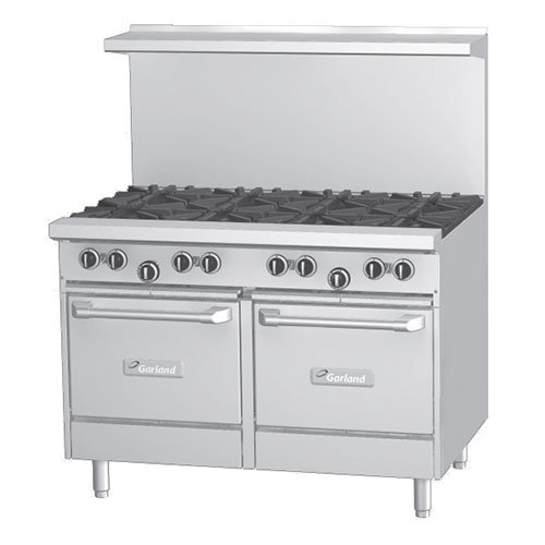 Garland G48-2G36LL 2 Burner 48 inch Gas Range with 36 inch Griddle and 2 Space Saver Ovens