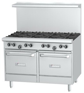 Garland G48-8LL 8 Burner Gas Range with Two Space Saver Ovens