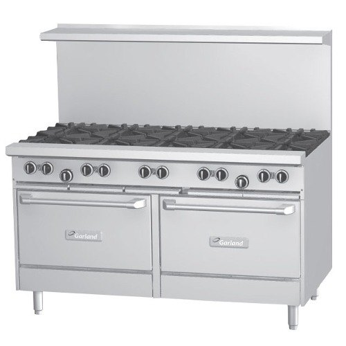 Garland G60-10RS 10 Burner Gas Range with Standard Oven and Storage Base