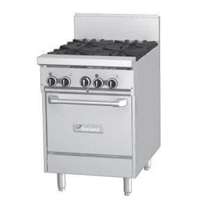Garland GF24-2G12L 2 Burner 24 inch Gas Range with Flame Failure Protection, 12 inch Griddle, and Space Saver Oven