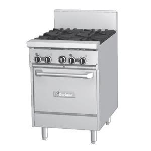 Garland GF24-G24L 24 inch Gas Range with Flame Failure Protection, 24 inch Griddle, and Space Saver Oven