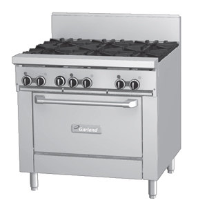 Garland GF36-6R 6 Burner 36 inch Gas Range with Flame Failure Protection and Standard Oven