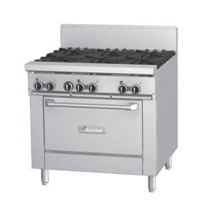 Garland GF36-G36R 36 inch Gas Range with Flame Failure Protection, 36 inch Griddle, and Standard Oven
